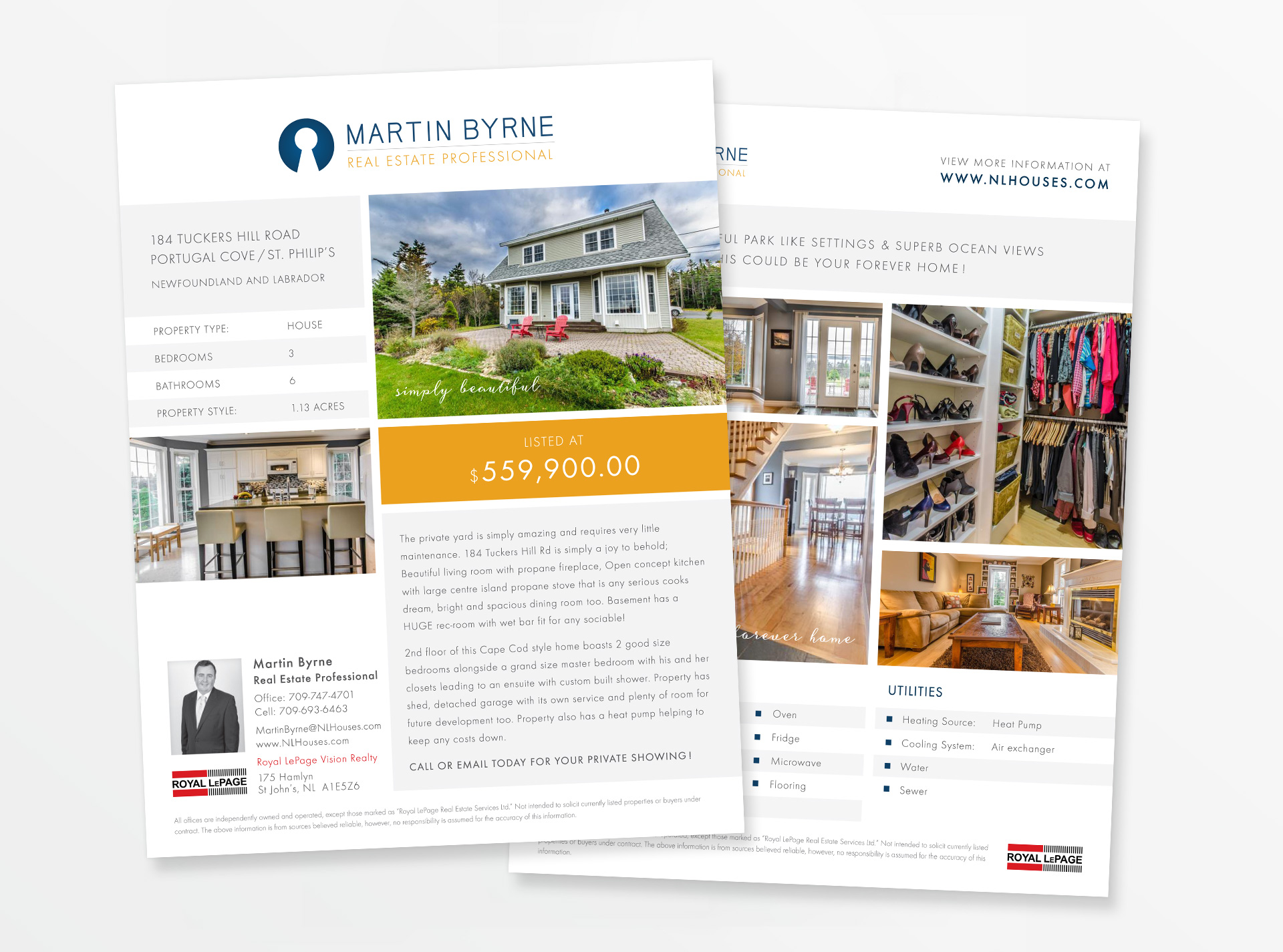 kirsty ta o real estate graphic website design real estate flyer design